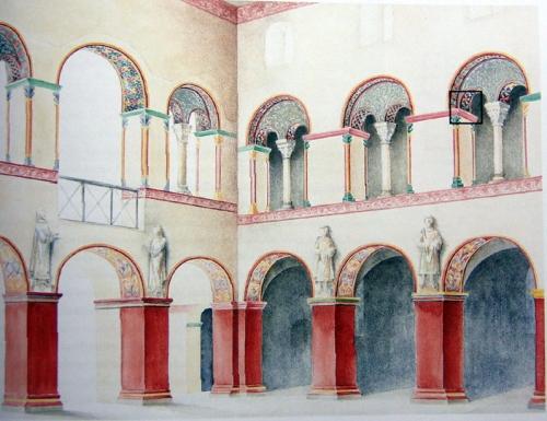 Corvey; Obergeschoss: rekonstruierter Originalzustand; Quelle CS