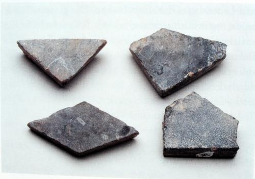 Corvey; Klosterkirche: römische Steinfliesen; laut Katalogtext: zweitverwendete römische Produktion, Quelle: S/W
