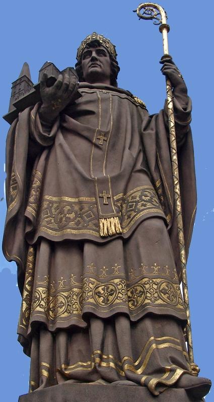 Erzbischof Ansgar (~796 - 865) in einer nicht ganz zeitgenössischen Darstellung; Quelle: internet