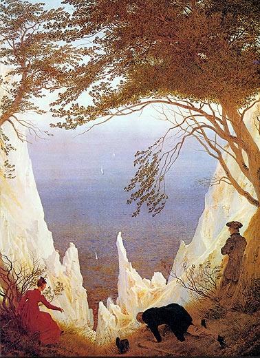 Insel Rügen, Kreidefelsen, Gemälde von Caspar David Friederich