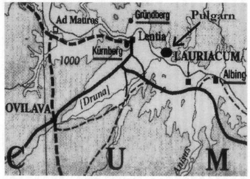 Noricum: Ovilava, Lauriacum (und Pulgarn)