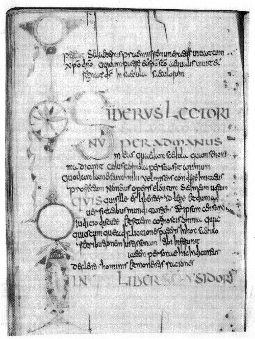 """Abb. 4: Das """"Schwerthieb""""-Buch des Bonifatius, vor 754, geschrieben in einer nicht-insularen Minuskel. Warum las Bonifatius Bücher in einer ihm nicht vertrauten Schrift?"""