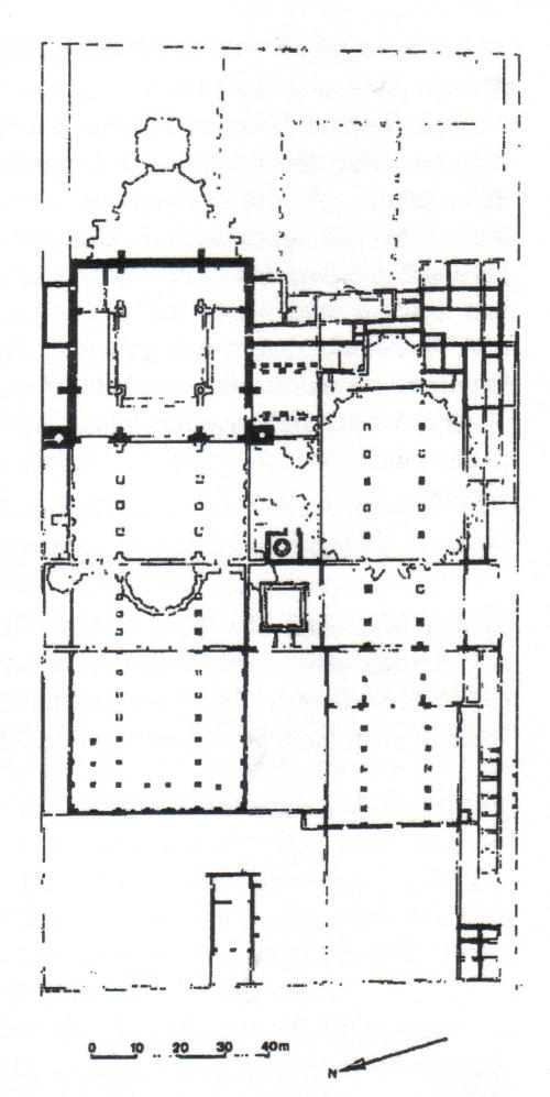 Doppelkirche des 4. Jh. (rekonstruiert) [Kuhnen 118]