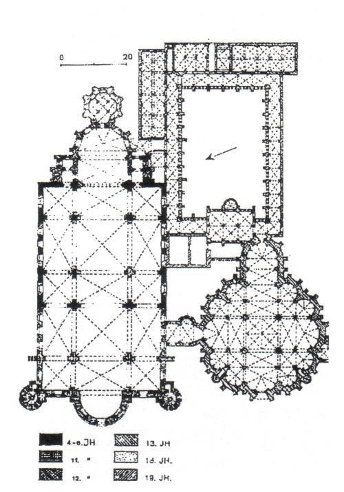 Grundriss von Dom und Liebfrauenkirche [Stadt Trier 97]
