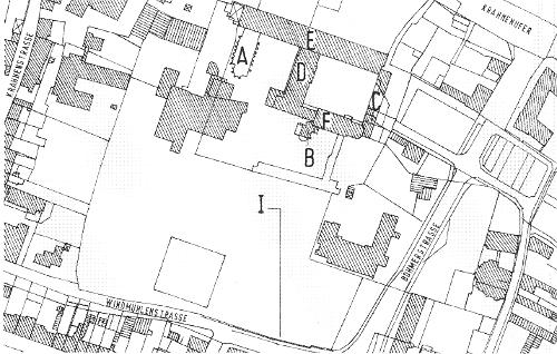 St. Irminen, Kloster, Lageplan [Trier 124]